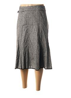 Jupe mi-longue gris TELMAIL pour femme