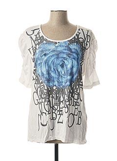 T-shirt manches courtes blanc CAPUCCINO pour femme