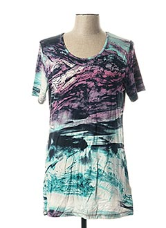 T-shirt manches courtes bleu CAPUCCINO pour femme