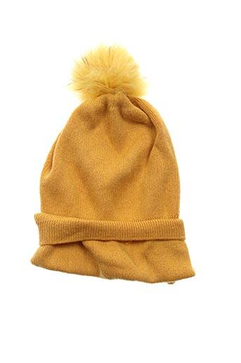Bonnet jaune CATCH ME pour femme