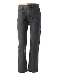 Jeans coupe droite gris CALVIN KLEIN pour femme