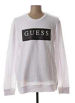 Sweat-shirt blanc GUESS pour homme