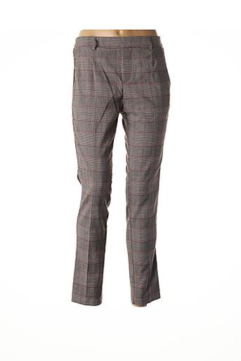 Pantalon casual gris GRACE & MILA pour femme