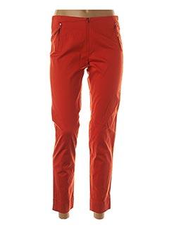 Pantalon 7/8 orange ANINOTO pour femme