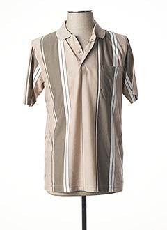Polo manches courtes beige CAP 10 TEN pour homme