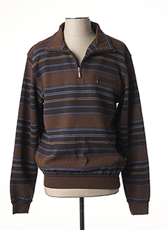 Sweat-shirt marron HAJO pour homme