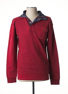 Sweat-shirt rouge DELAHAYE pour homme