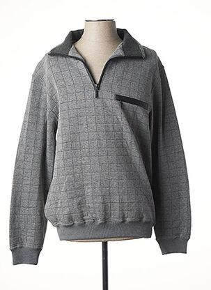 Sweat-shirt gris HAJO pour homme