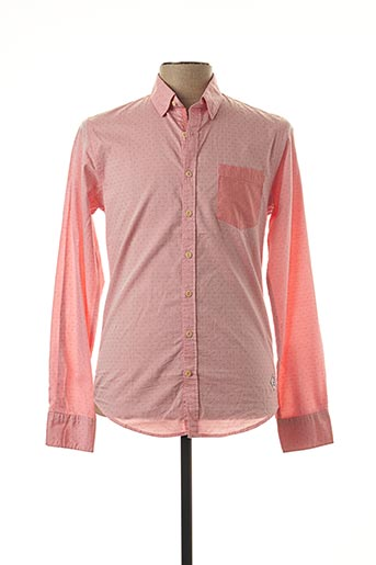 Chemise manches longues rose MEN OF ALL NATION pour homme