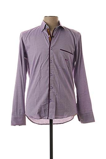 Chemise manches longues violet DARIO BELTRAN pour homme