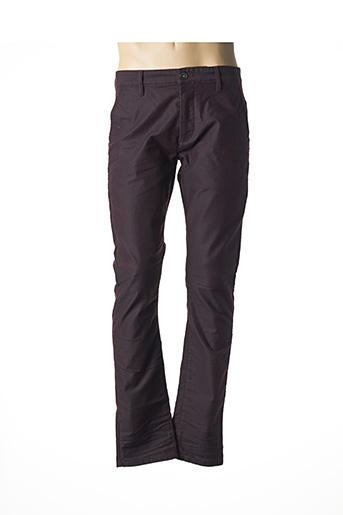 Pantalon casual rouge CHEFDEVILLE pour homme