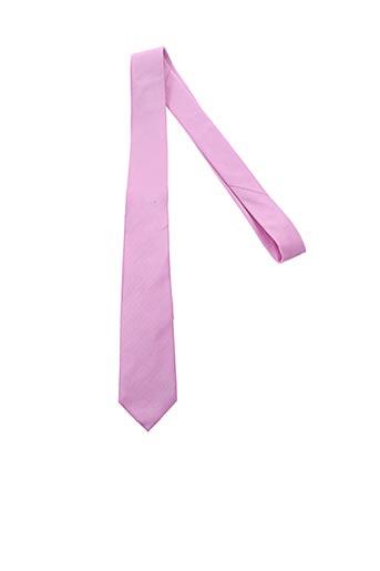 Cravate rose BENOIT FLORENT pour homme