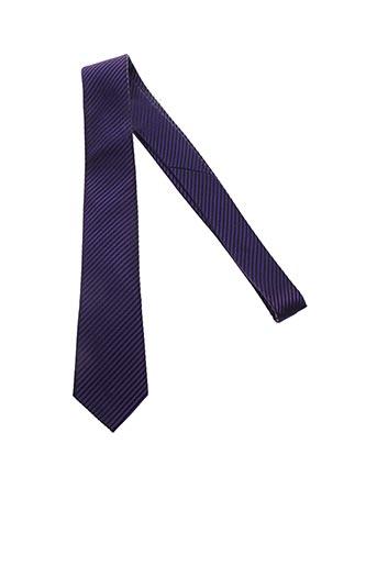 Cravate violet CESARIO pour homme