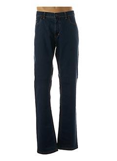 Jeans coupe droite bleu HATTRIC pour homme