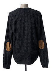 Pull col rond gris MEN OF ALL NATION pour homme seconde vue