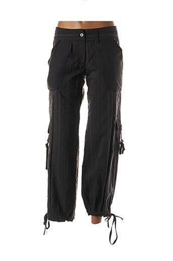Pantalon 7/8 gris DES FILLES A LA VANILLE pour femme