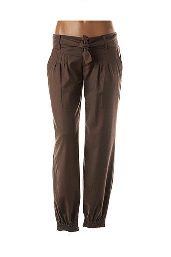 Pantalon 7/8 marron AMELIE & AMELIE pour femme