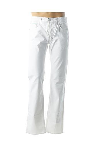 Jeans coupe droite blanc HUGO BOSS pour homme