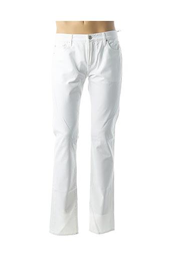 Jeans coupe slim blanc BURBERRY pour homme