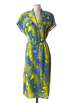 Robe mi-longue bleu CLAUDE BAUER pour femme