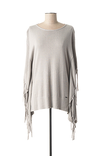 Pull col rond gris TOM TAILOR pour femme