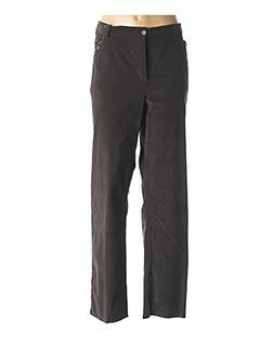 Pantalon casual gris EVER EASY BY JAC JAC pour femme