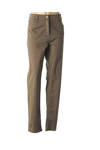 Pantalon casual marron BRANDTEX pour femme