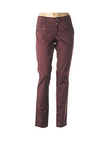 Pantalon casual rouge STREET ONE pour femme