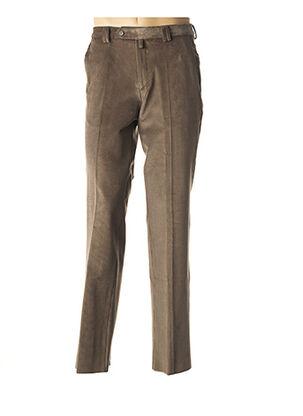 Pantalon chic marron COSSERAT pour homme