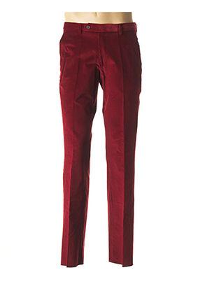 Pantalon chic rouge COSSERAT pour homme
