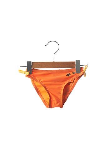 Bas de maillot de bain orange KALAÏS pour fille
