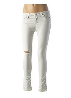 Jeans coupe slim gris REIKO pour femme