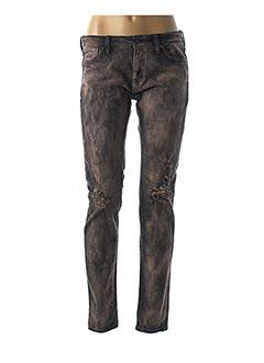 Jeans coupe slim noir RALPH LAUREN pour femme