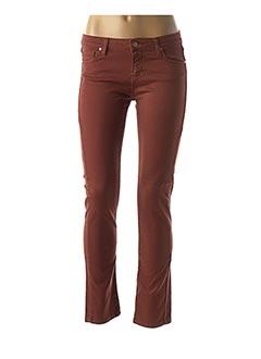 Pantalon casual marron DES PETITS HAUTS pour femme