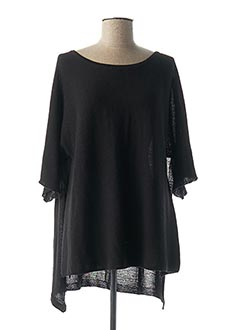 Pull tunique noir RINASCIMENTO pour femme