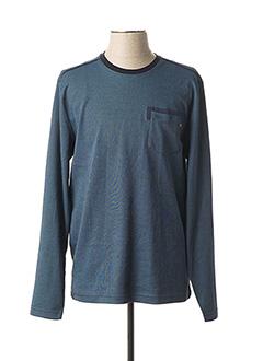 T-shirt manches longues bleu TBS pour homme