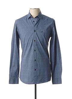 Chemise manches longues bleu TIBET pour homme