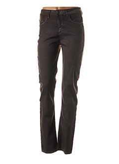 Jeans coupe slim marron PIERRE CARDIN pour femme