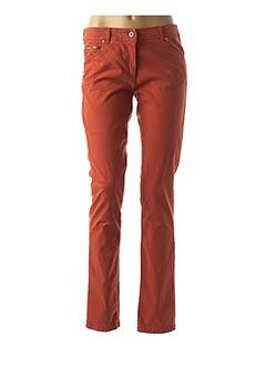 Pantalon casual orange VOODOO pour femme