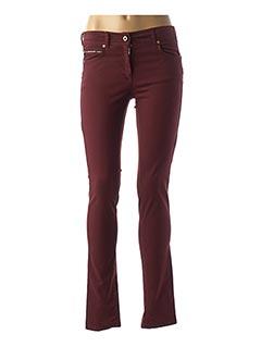 Pantalon casual rouge VOODOO pour femme