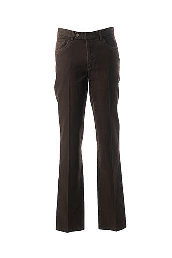 Jeans coupe droite marron HAROLD pour homme