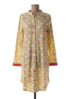 Chemise de nuit beige ROSE POMME pour femme
