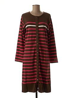Chemise de nuit marron ROSE POMME pour femme