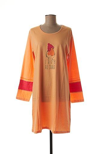 Chemise de nuit orange ROSE POMME pour femme