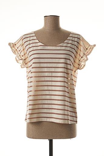 T-shirt manches courtes beige EMILE ET IDA pour femme