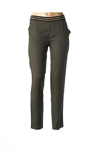 Pantalon casual vert BLUNE pour femme