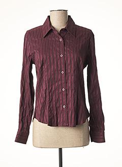 Chemisier manches longues violet CLAUDE DE SAIVRE pour femme