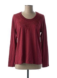 T-shirt manches longues rouge GRIFFON pour femme