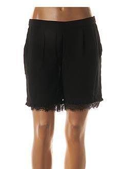 Short noir PIECES pour femme