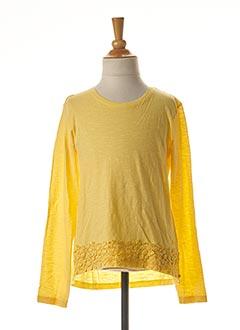 T-shirt manches longues jaune TIFFOSI pour fille